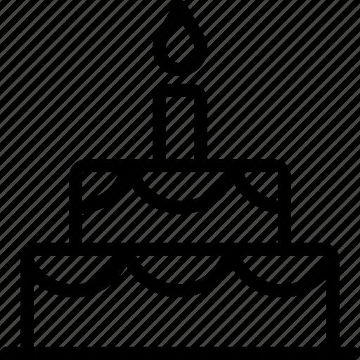 birthday, cake, christmas, holiday, holidays, torte icon