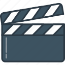 cinema, clapboard, drama, film, video, videography icon