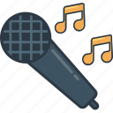 karaoke, mic, microphone, music, sing, singer, song icon