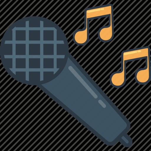 karaoke, mic, microphone, music, sing, singer, song icon