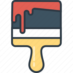 art, design, paint, paintbrush, wall icon