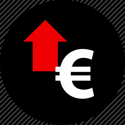arrow, euro, up icon