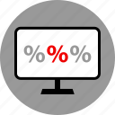 pc, percentage, rate icon
