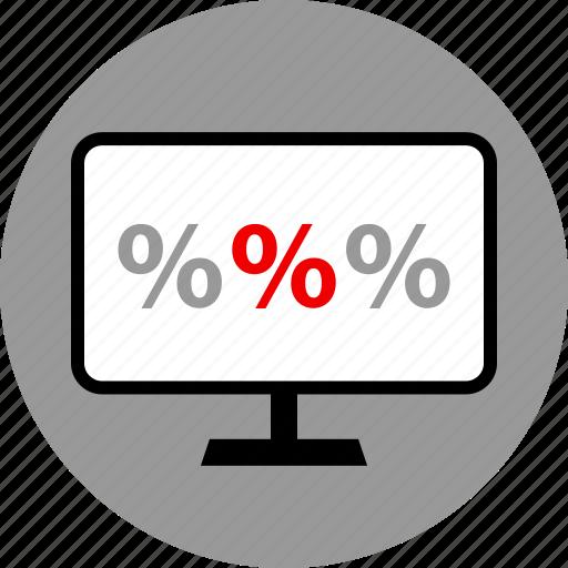 pc, percentage, rate icon