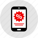 percentage, phone, rate icon