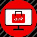 online, shop, web icon
