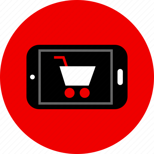 cart, cell, phone, shopping icon
