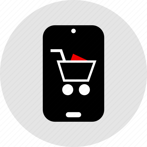 cart, phone, shopping icon