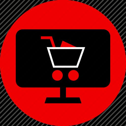 ecommerce, mac, pc, shopping icon