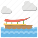 adventure, aquatic, boating, canalas, day, holiday, lake, longtail, scenery, tourism, water, waves icon
