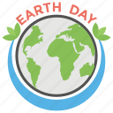 climate protection, earth day, earth day text, environmental protection, world globe icon
