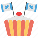 blue canadian flag, canada day, celebration, cherry on cake, national holiday icon