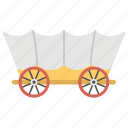 handcart, old covered wagon, pioneer day mormon cart, wheel cart, woodcart icon