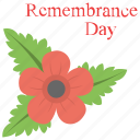 plant, poppy day, poppy flower, red poppy, remembrance day icon