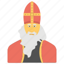bishop hat, nicholas avatar, nicholas of myra, religious celebration, saint nicholas day icon