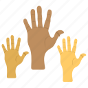 black hand, equality, human rights day, justice, martin luther day icon