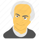 american citizen, linus pauling avatar, linus pauling day, man in black, white haired man icon