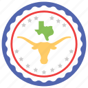celebrating freedom, cow skull, texas flag, texas independence day, texas map icon