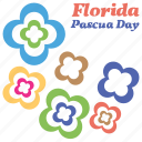 colorful flowers, independence day text, nature, pascua florida day icon