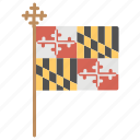checkered flag, flag of maryland, flag with cross, maryland day, maryland flag icon