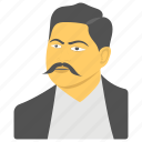 human avatar, kalanianaole day holiday, man with mustache, prince jonah kuhio, prince of huawei icon