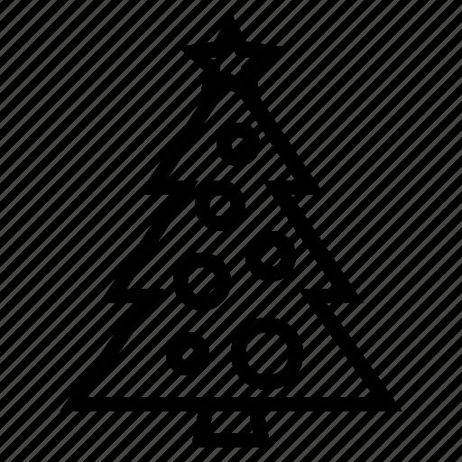 christmas, decoration, holiday, pine, tree, xmas icon
