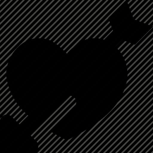 arrow, heart icon