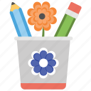 bucket, confederate memorial day, flower, pencil container, remembering soldiers icon