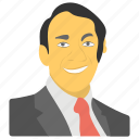gay activist day, harvey milk avatar, harvey milk day, man in suit, smiling human avatar icon