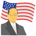33rd president, american flag, state holiday, truman avatar, truman day icon