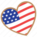 american flag, american flag pattern, confederate memorial day, flag heart, us flag colors icon