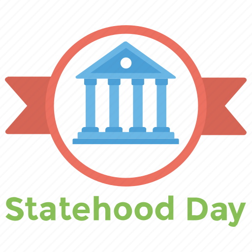 arizona flag colors, arizona holiday, decorative building, national building, statehood day icon