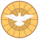 flying bird, holy spirit, jesus christ, pentecost day, white angel icon