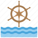 marine wheel, maritime celebration, national maritime day, oceanic waves, ship steering wheel icon