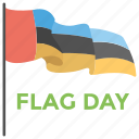 flag day, four color flag, freedom celebration, national holiday icon