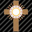christ body, christian cross, corpus christi day, flesh and blood, lightening cross sign icon