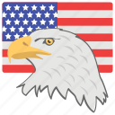 american eagle day, american flag, american national bird, federal celebration, national holiday icon