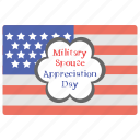 american flag, appreciation day, army celebration, military event, military spouse icon