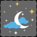 chand raat, eid night, islamic month beginning, new moon, shawwal moon icon
