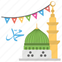 eid ul milad, muslims celebrations, prophet birthday, prophet grave, rabi ul awal icon