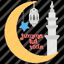 crescent, jumma tul wida, mosque dome, prayers, ramadan, supplications icon