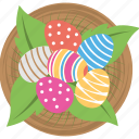 berries, candies, easter, feast, fruits, plate icon