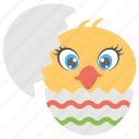 animals, baby, bird, born, chicken, easter chick icon