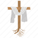 christian sign, cross, lent, muffler, white cloth icon