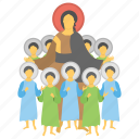feast of immaculate concept, gathering, holy kids, mother mary, orphan kids icon