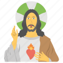 christian prophet, feast of sacred heart, holy jesus avatar, peaceful celebration icon