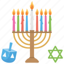 hanukkah, holiday, israel, judaism, star of david icon