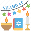 creation of heavens, earth creation, jews event, seventh day, shabbat icon