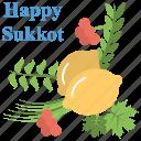 feast of booths, feast of ingathering, jewish biblical holiday, sukkot, three pilgrimage festival icon