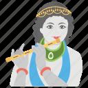 gokulashtami, hindu god, krishna janmashtami, krishna's birthday, religious holiday icon